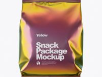Holographic Foil Snack Package Mockup