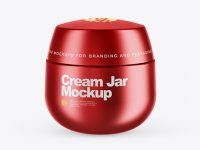 Matte Metallic Cream Jar Mockup