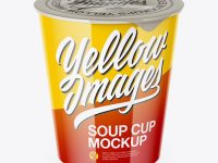 Glossy Soup Cup Mockup
