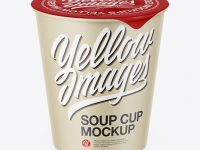 Textured Soup Cup Mockup