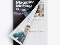 A4 Magazine Mockup - Top View