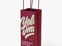Matte Paper Bag Mockup - Half Side View
