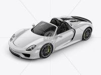 Porsche 918 Spyder Mockup - Half Side Left View