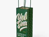 Paper Bag Mockup - Half Side View