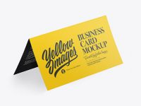 Business Card Mockup - Half Side View