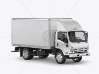 Isuzu Elf Mockup - Half Side View