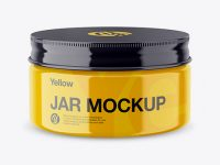 Glossy Jar Mockup - High-Angle Shot