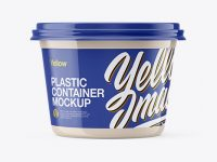Glossy Sour Cream Cup Mockup