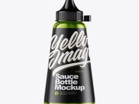 Metallic Sauce Bottle Mockup