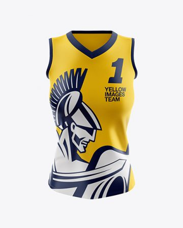 Women's Basketball Jersey Mockup - Front View