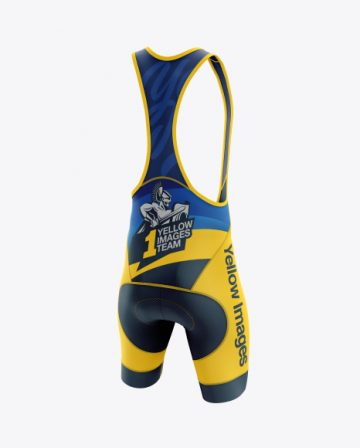 Men's Cycling Bib Shorts mockup (Back Right Half Side View)