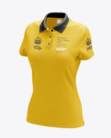 Womens Polo HQ Mockup - Half-Turned View