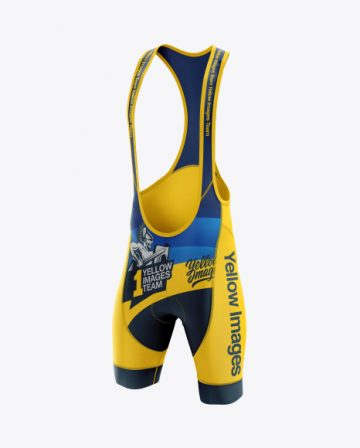Men's Cycling Bib Shorts mockup (Half Side View)