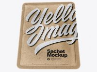Kraft Paper Sachet Mockup - Hero Shot