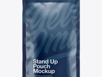 Glossy Stand-Up Pouch Mockup - Front View