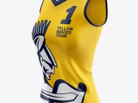 Women's Basketball Jersey Mockup - Half Side View