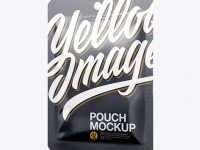Glossy Pouch Mockup - Half Side VIew