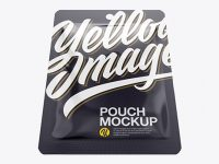 Glossy Pouch Mockup - Top VIew (Hero Shot)