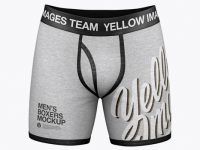 Melange Men's Boxer Briefs Mockup - Front View
