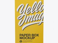Paper Box Mockup - Front View