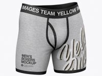 Melange Men's Boxer Briefs Mockup - Half Side View