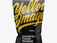 Glossy Stand-Up Pouch w/ Zipper Mockup - Front View