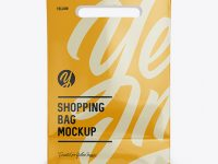Glossy Shopping Bag Mockup - Front View