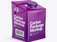 500ml Carton Box Mockup - Half Side View