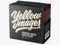 Package with Boxes Mockup - Half Side View (High-Angle Shot)