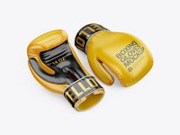 Two Boxing Gloves Mockup