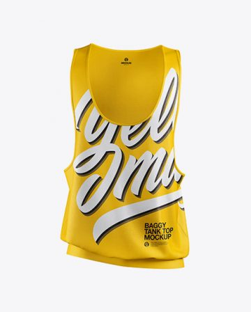 Baggy Tank Top Mockup - Front View