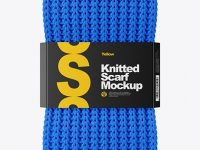 Knitted Scarf With Paper Label Mockup