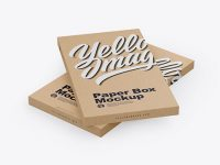 Two Kraft Boxes Mockup - Half Side View