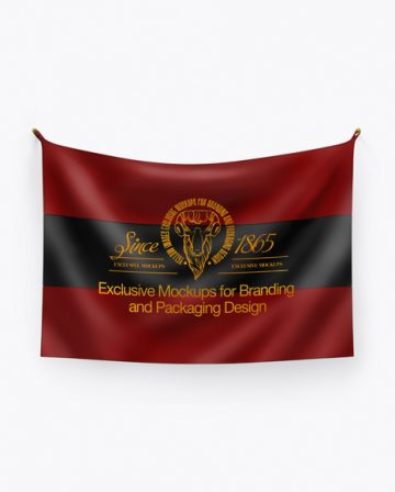 Flag Mockup - Front View