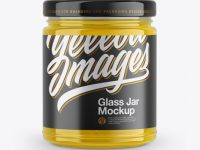 Clear Glass Jar Mockup