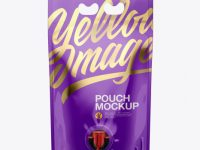 Glossy Stand-Up Pouch with Dispenser Mockup