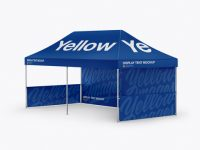 Display Tent Mockup - Half Side View
