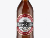 330ml Amber Beer Bottle Mockup