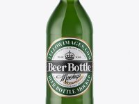 330ml Green Glass Beer Bottle Mockup