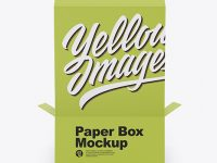 Opened Paper Box Mockup - Back View (High-Angle Shot)