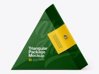 Triangular Package Mockup - Side View