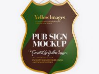 Pub Sign Mockup - Front View