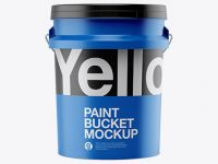 5L Matte Paint Bucket Mockup - Front View