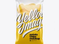 Clear Plastic Bag With Potato Chips Mockup