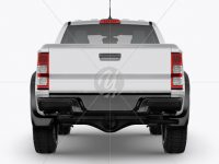 Pickup Truck Mockup - Back View