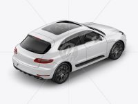 Luxury SUV Сrossover Mockup - Back Half Side View (High-Angle Shot)