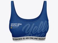 Women's Sports Bra Mockup - Front View