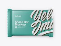 Matte Snack Bar Mockup - Top View