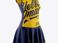 Women Netball Dress HQ Mockup - Half Side View