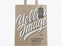 Kraft Bag w/ Label Mockup - Front View